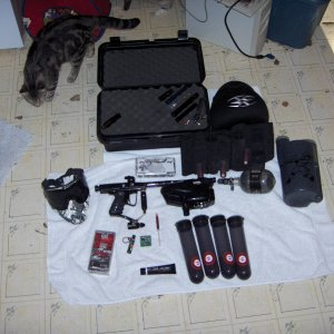 paintball gear.